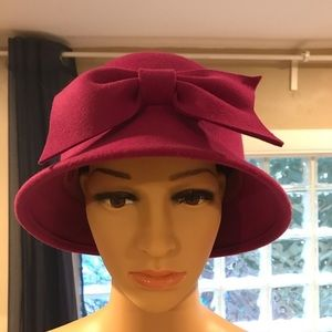 San Diego Hat Company wool pink cloche fuschia